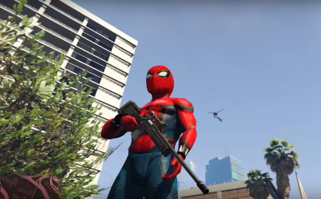 Скачать мод Человек Паук на GTA 5